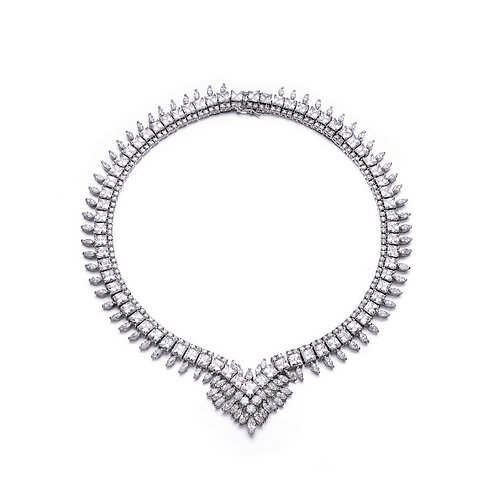 Magnificent Pave Set Marquise Necklace TN-NS14