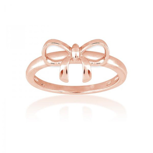 Rose Toned Bow Ring W-9826
