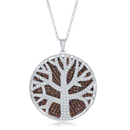 Sterling Silver Round Tree of Life Pendant CSN-K-8000