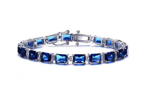 Radiant Cut Sapphire Color Tennis Bracelet TCB-BR1327-S