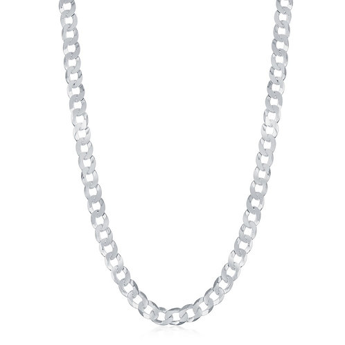 Sterling Silver 4.4mm Cuban Chain 22 Inches CL-Q-5490