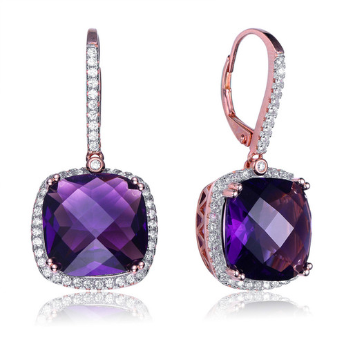 athena amythist purple gemstone amethyst stone secret halo azuni teardrop gemstones earrings products