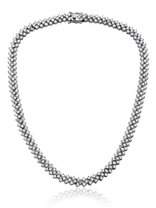 Sterling Silver Braided Links Necklace NEC2098