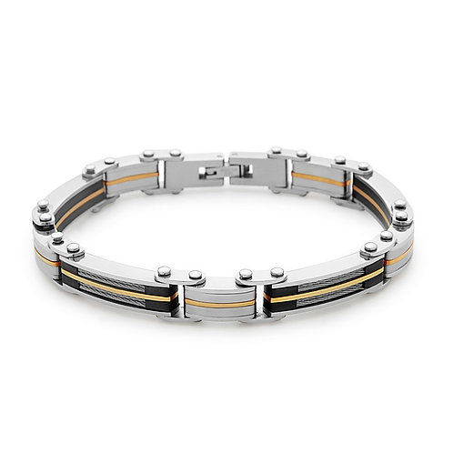 Stainless Steel Cable and GP Links Bracelet CL-ST-1522