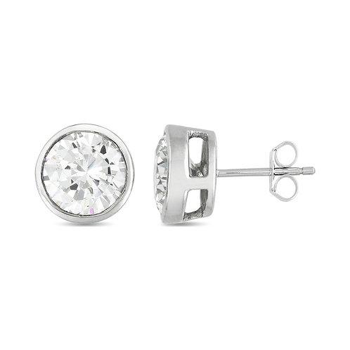 6mm (1.00ctw) Bezel Set Stud Earrings TCE-EAR500-6MM