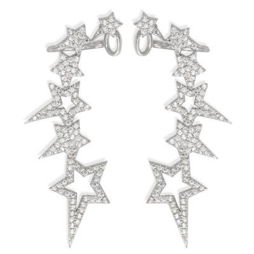 Sterling Silver Mulitiple Shooting Star Right Ear Climber CSE-D-5765
