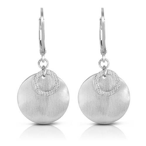 Matt Finish Circle Drop Earrings CSE-EAR9300