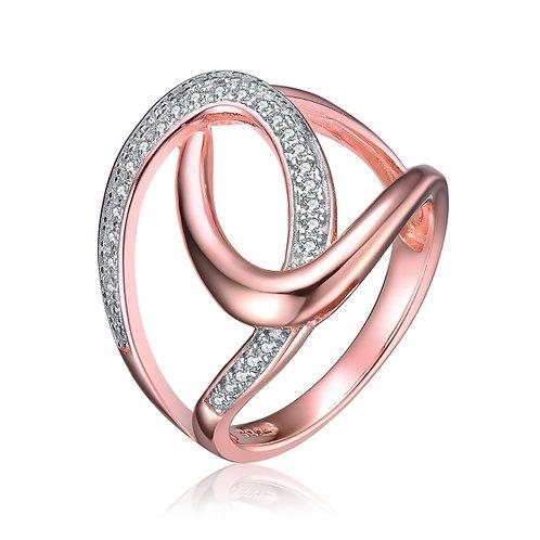 Rose Gold Swirl Ring CSR-R2451-8