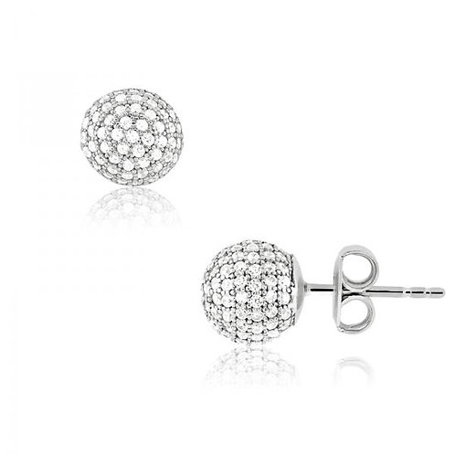MICRO PAVE EARRINGS D-4395