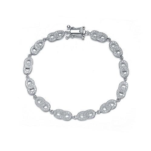 Sterling Silver Cubic Zirconia Pave-set Bracelet BR4073