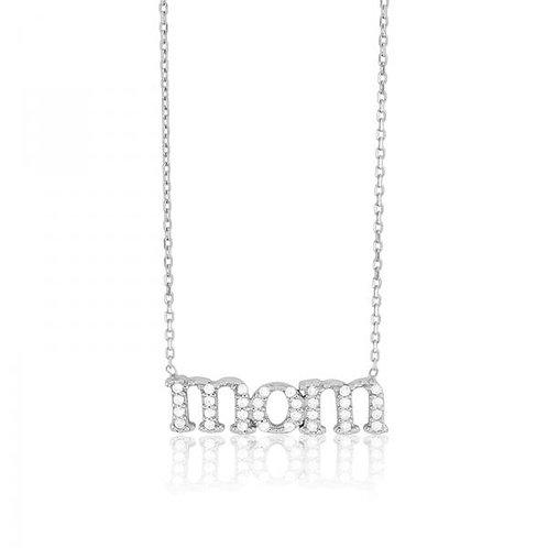 MOM Pave Set Stone Necklace CSN-M-4364