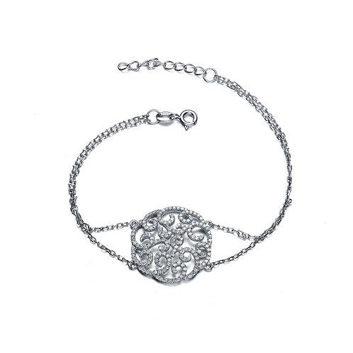 Sterling Silver Classic Filigree Bracelet CSB-BR6078