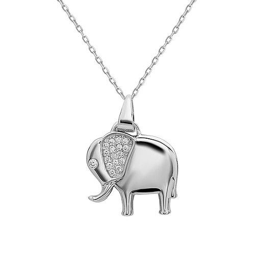 Sterling Silver Elephant Pendant CN-K-7026