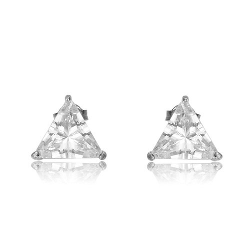 2.5ctw Trillion Prong Set Stud Earrings TCE-EAR306-L