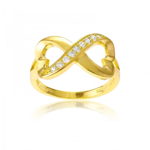 Yellow Toned INFINITY RING W-9707