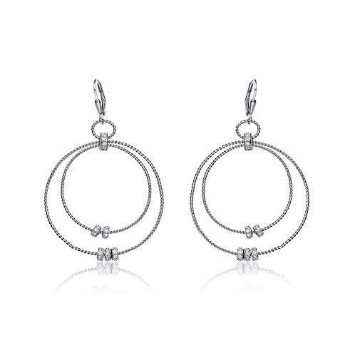 Sterling Silver Two-Orbit Earrings CSE-EAR8944