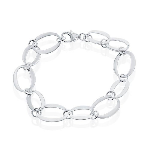 STERLING SILVER SMALL & LARGE OVAL BRACELET