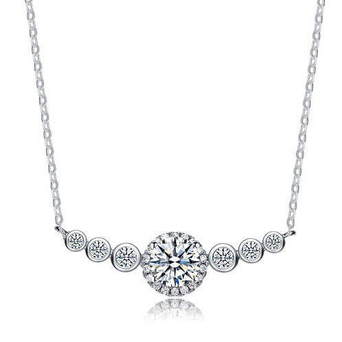 Gorgeous Classic Pave Halo Style Necklace TN-NEC3064