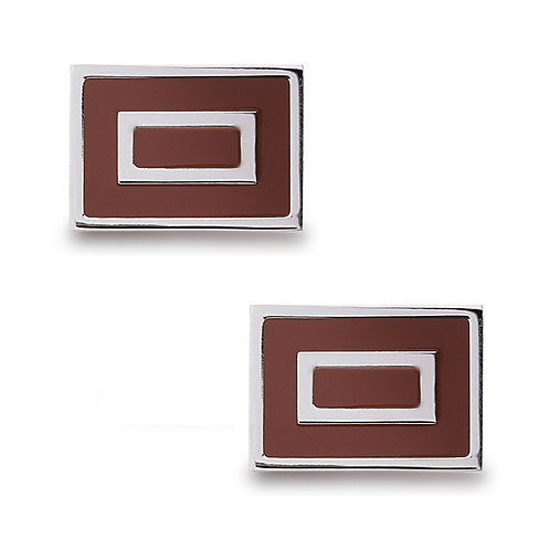 Stainless Steel Tan Square Cuff Links CL-SC-2005