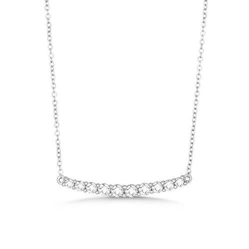 Platinum Plated Curved Bar Pendant TCSN-M-4842