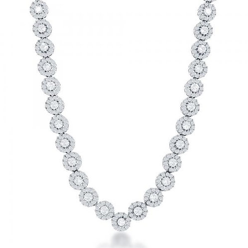 STERLING SILVER CZ TENNIS NECKLACE M-5499