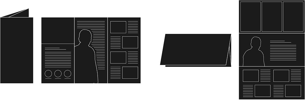 会社案内_三つ折りリーフレットデザイン