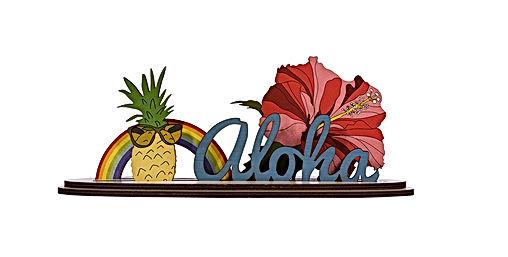 Aloha Rainbow Longboard