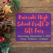 December 1, 2018 - Kaimuki High School Craft and Gift Fair