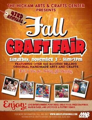 November 3, 2018 - 43rd Annual Fall Craft Fair