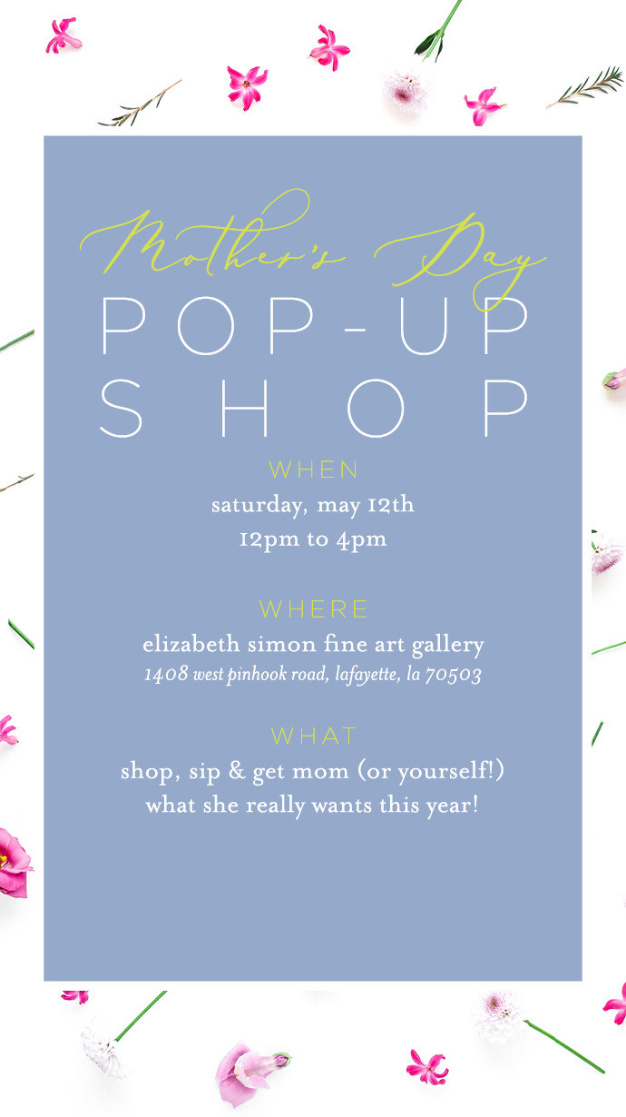 Mother's Day Pop-Up Shop