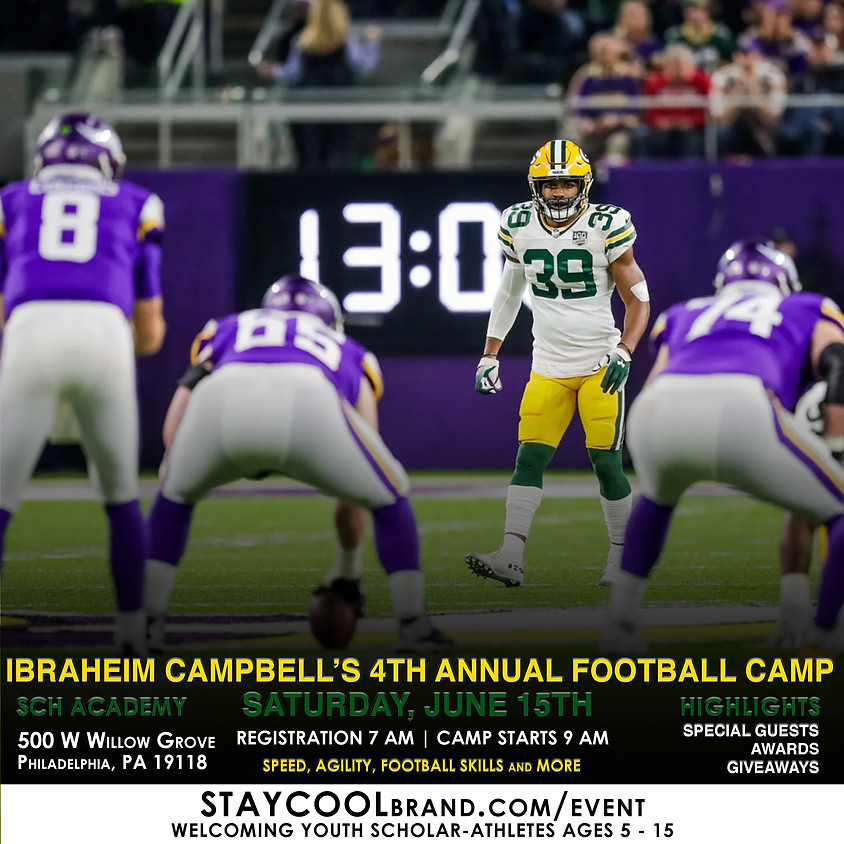 Ibraheim Campbell's 4th Annual Youth Football Camp