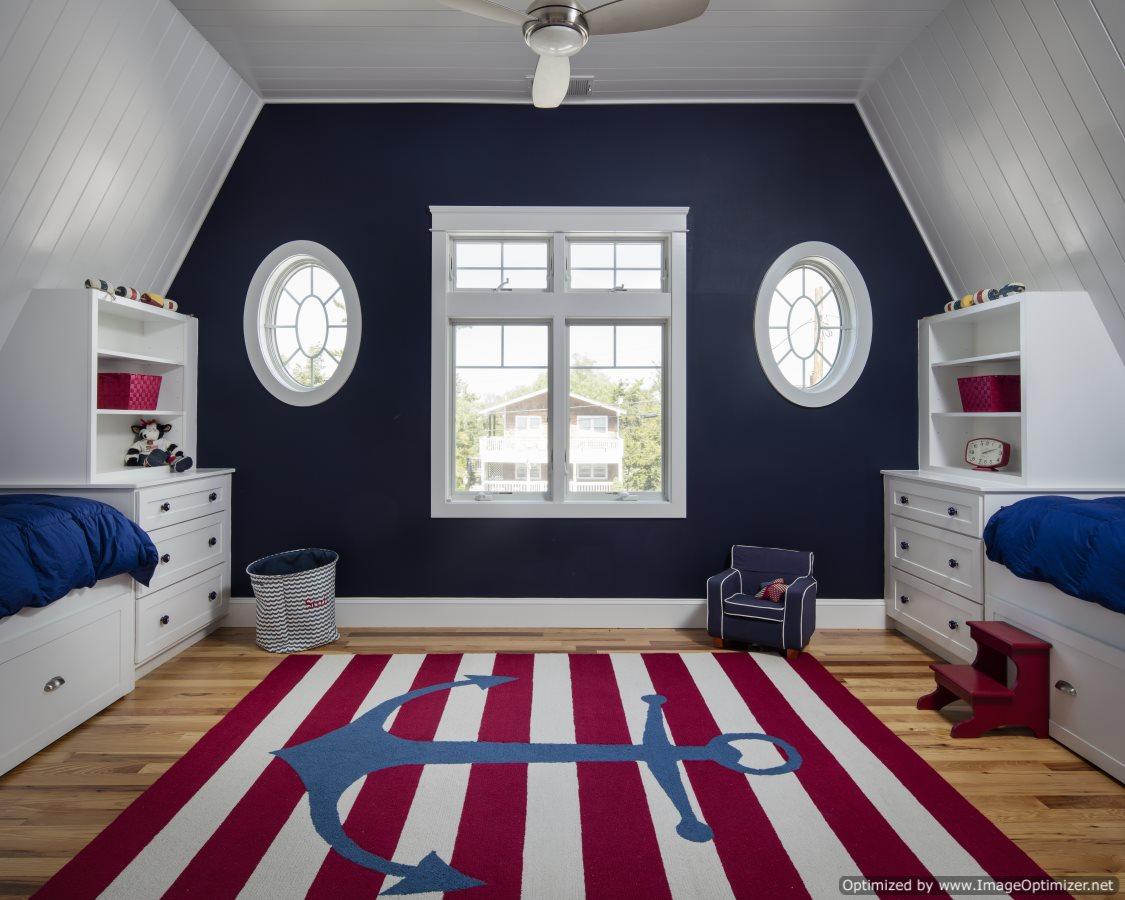 built in bunk room