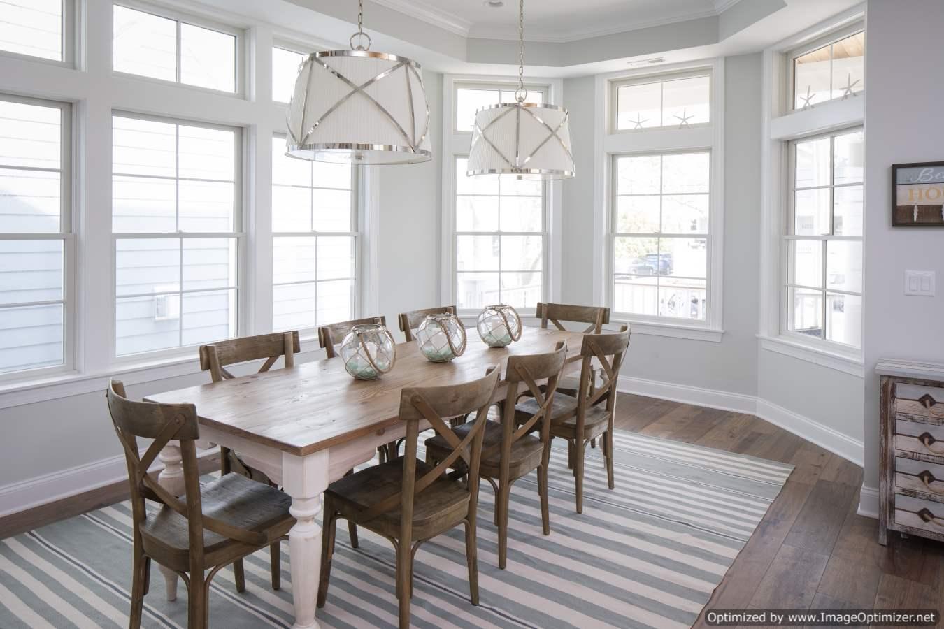 natural light dining room