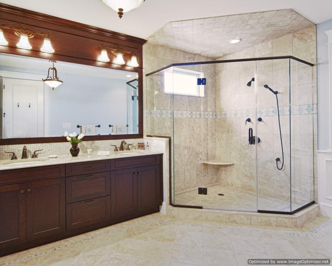 custom master bath design