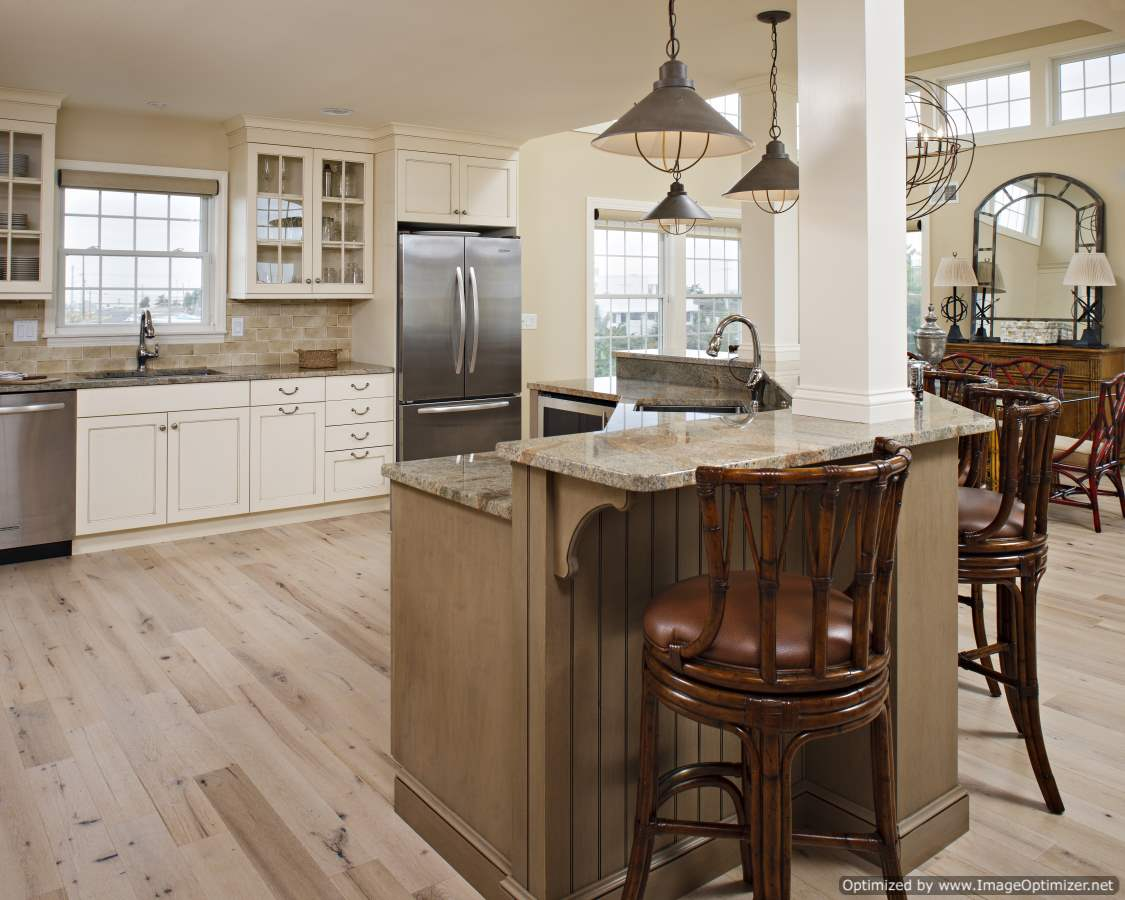 beach house kitchen island design