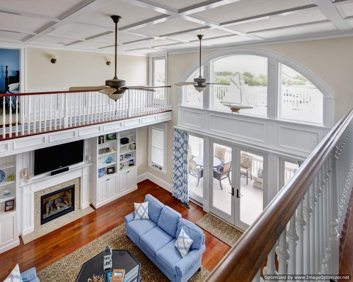 second floor overlooking first floor