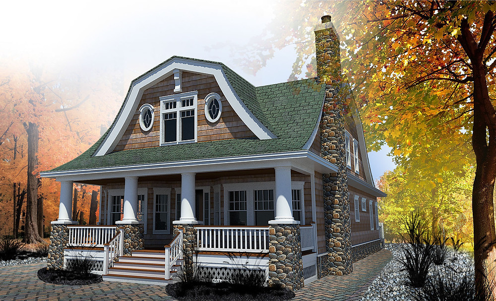 Original Rendering of Beach Cottage Concept LBI