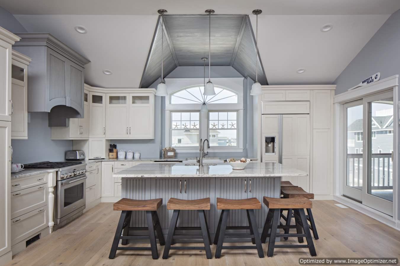 custom beach house kitchen