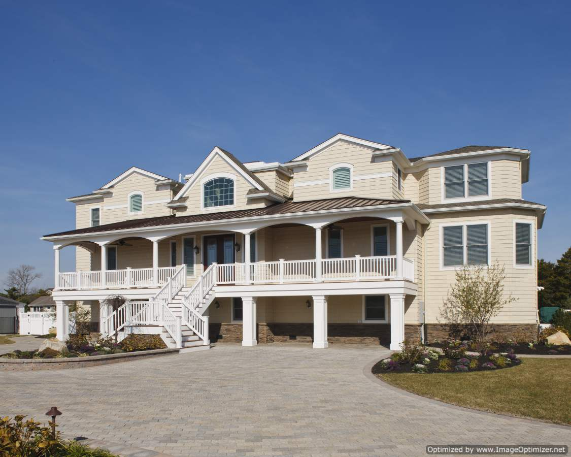 long beach island bay front home