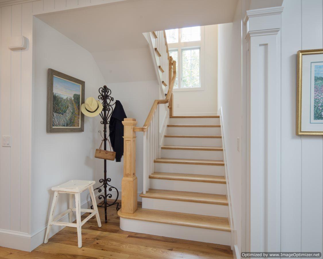 open rail stair