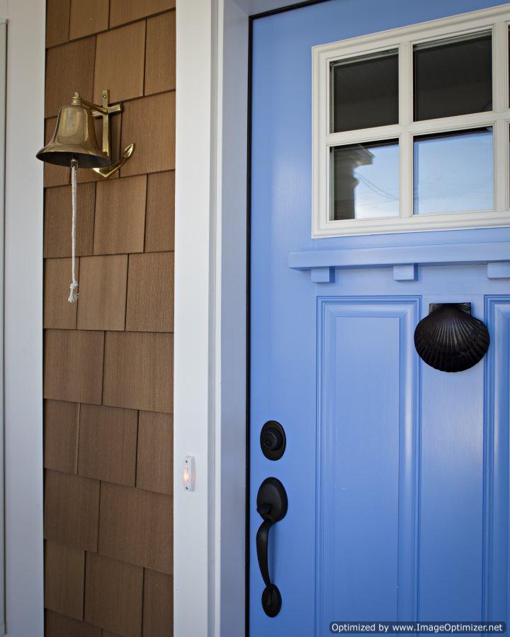 coastal siding craftsman style door