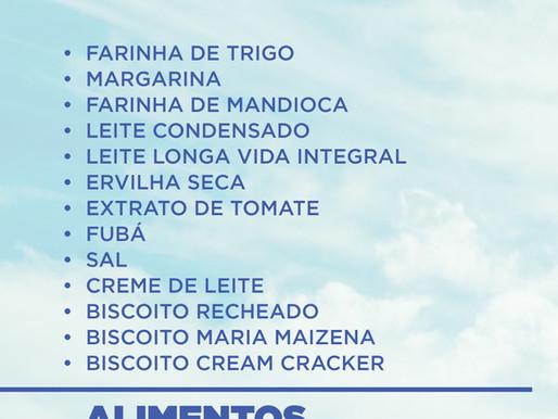 Alimentos e Produtos de Higiene mais necessários em setembro