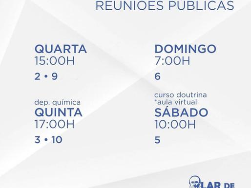 Calendário de reuniões públicas - dezembro