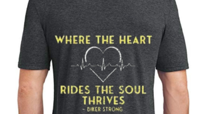 Where The Heart Rides The Soul Thrives Tri-Blend T-Shirt