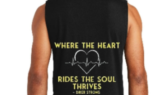 Where The Heart Rides The Soul Thrives District Sleeveless Muscle Tee