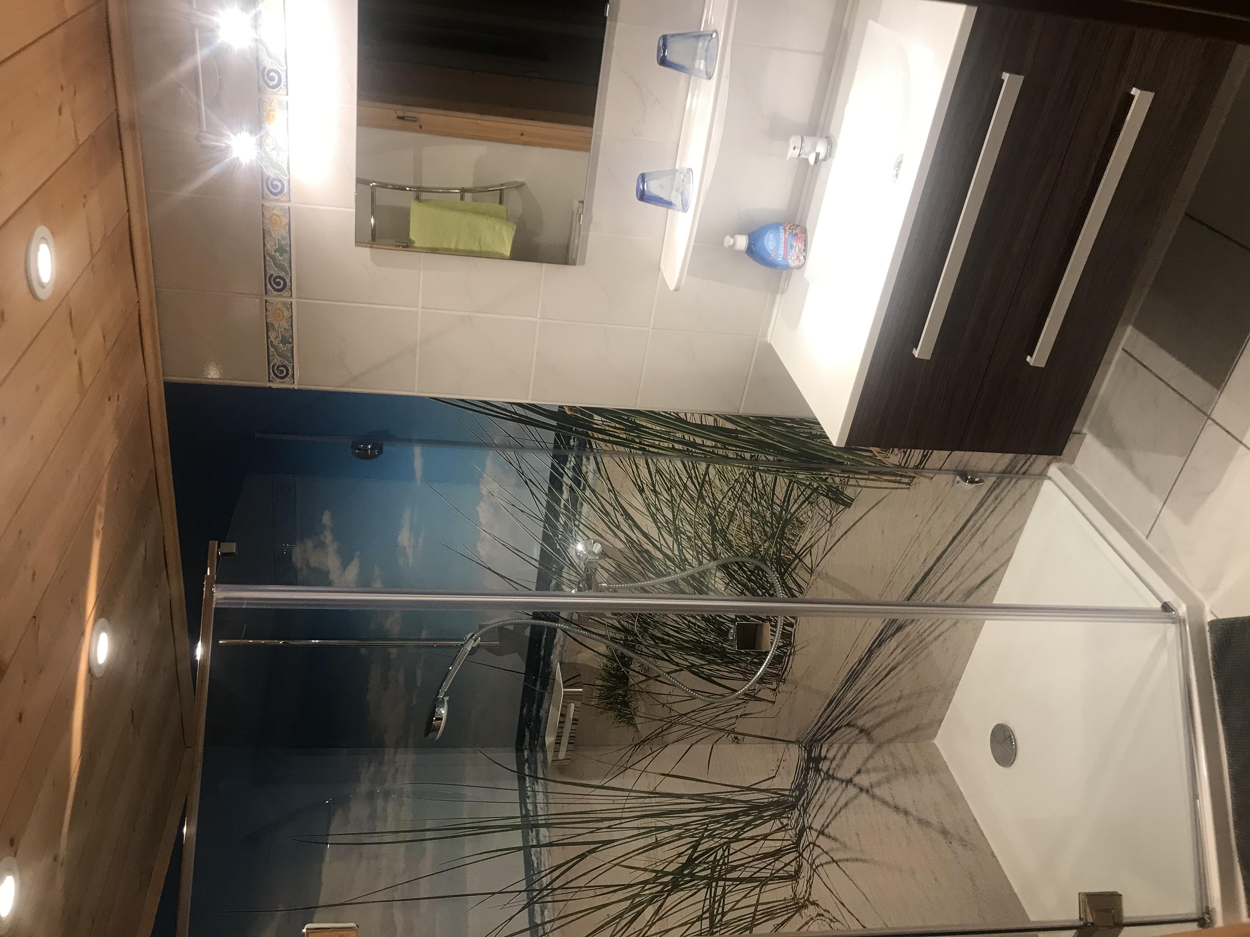 Neues Bad in der Fewo im Souterrain
