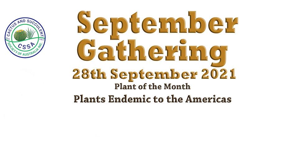 CSSA September 2021 Monthly Gathering
