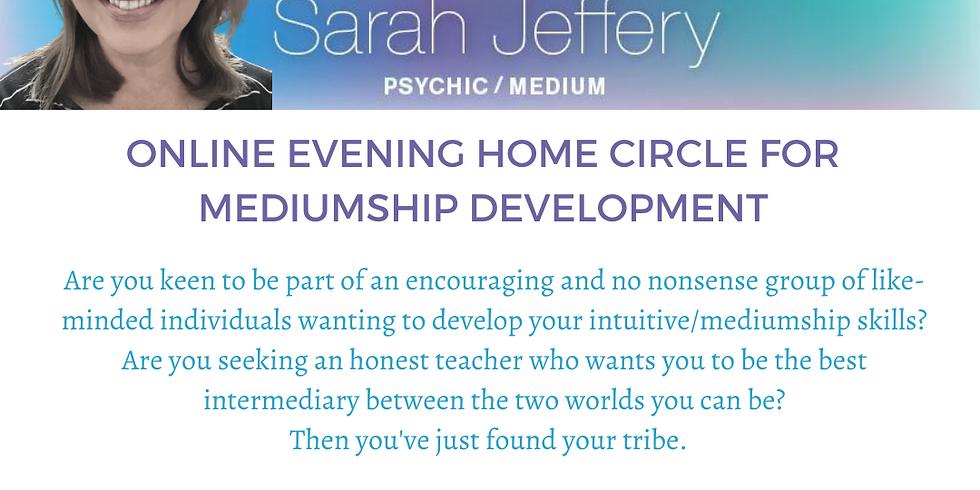 Online Evening Home Circle for Mediumship Development with Sarah Jeffery Psychic/Medium