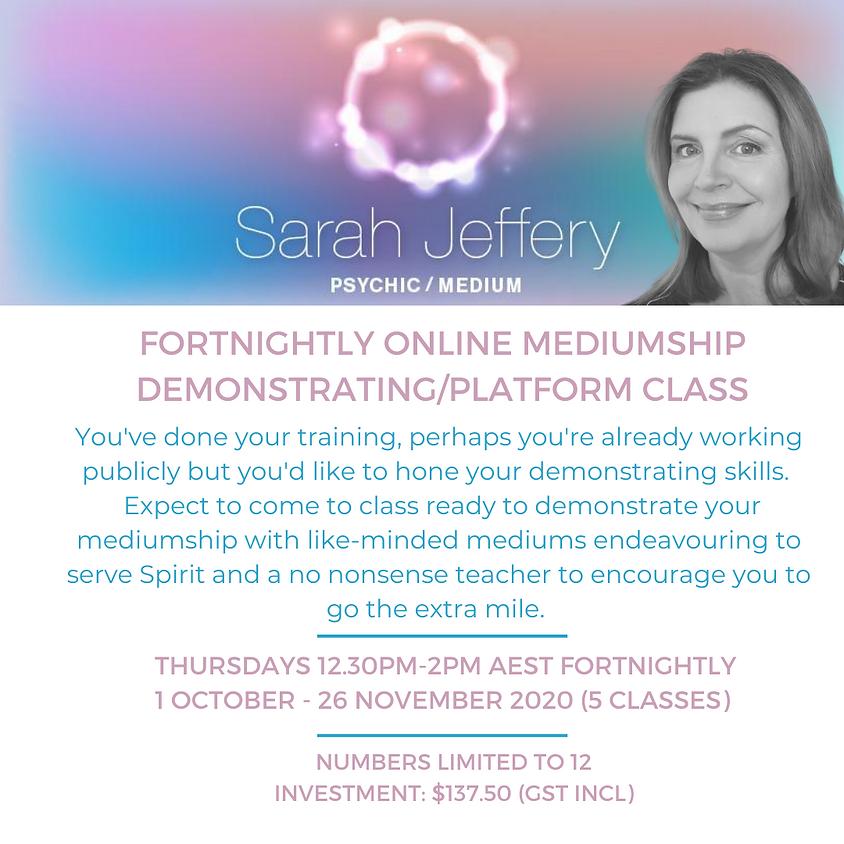 Fortnightly Online Mediumship Demonstrating/Platform Class