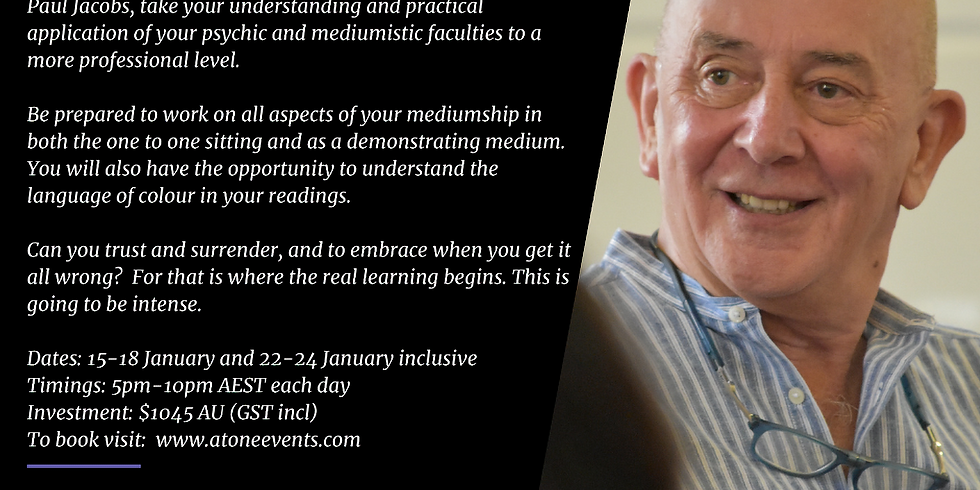 Online Mediumship Retreat with Paul Jacobs January 2021